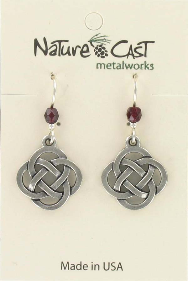 Earring dangle cutout celtic knot