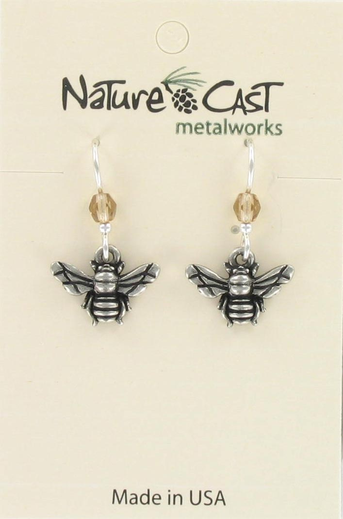 Earring dangle bee