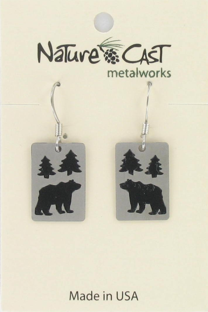 Earring dangle bear in the trees THUMBNAIL