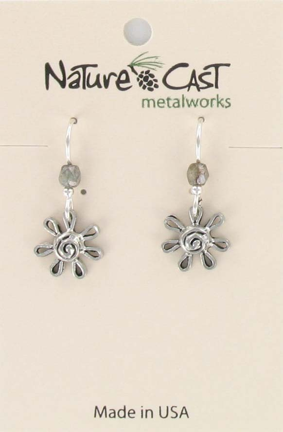 Earring dangle flower