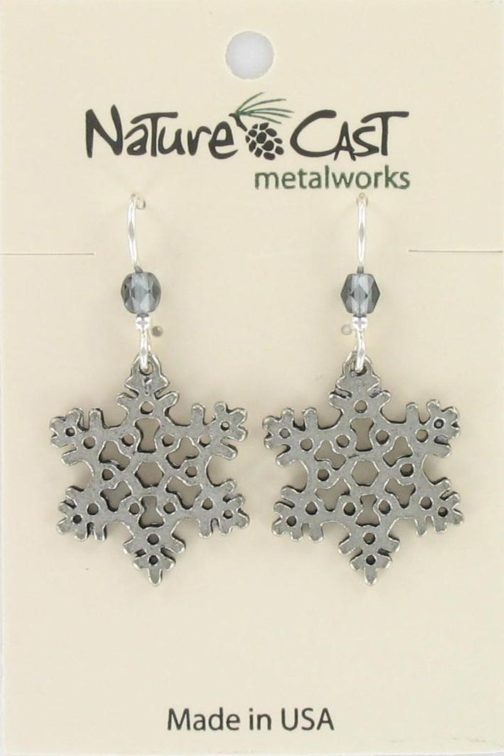 Earring dangle snowflake THUMBNAIL