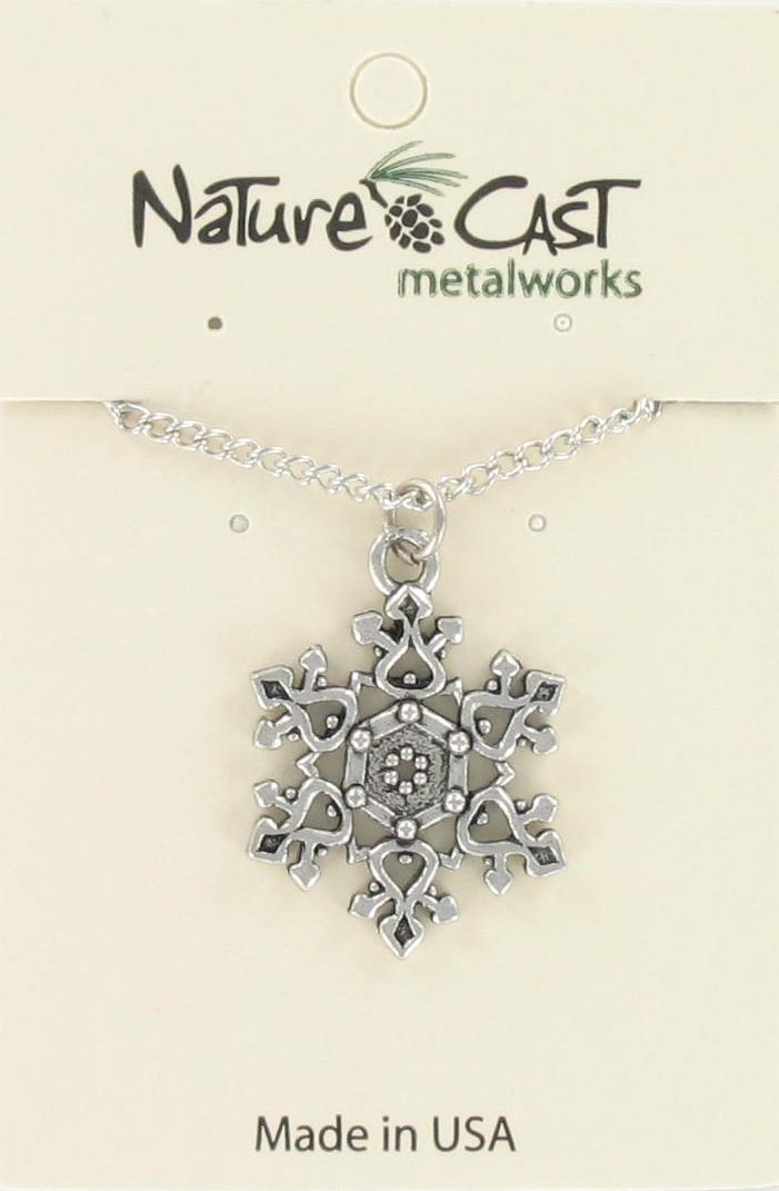 "Pendant filigree snowflake w/18"" chain MAIN"