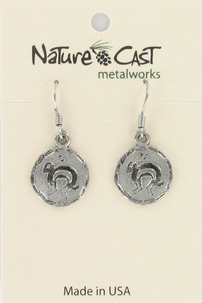 Earring dangle Native American disc (bunny) THUMBNAIL