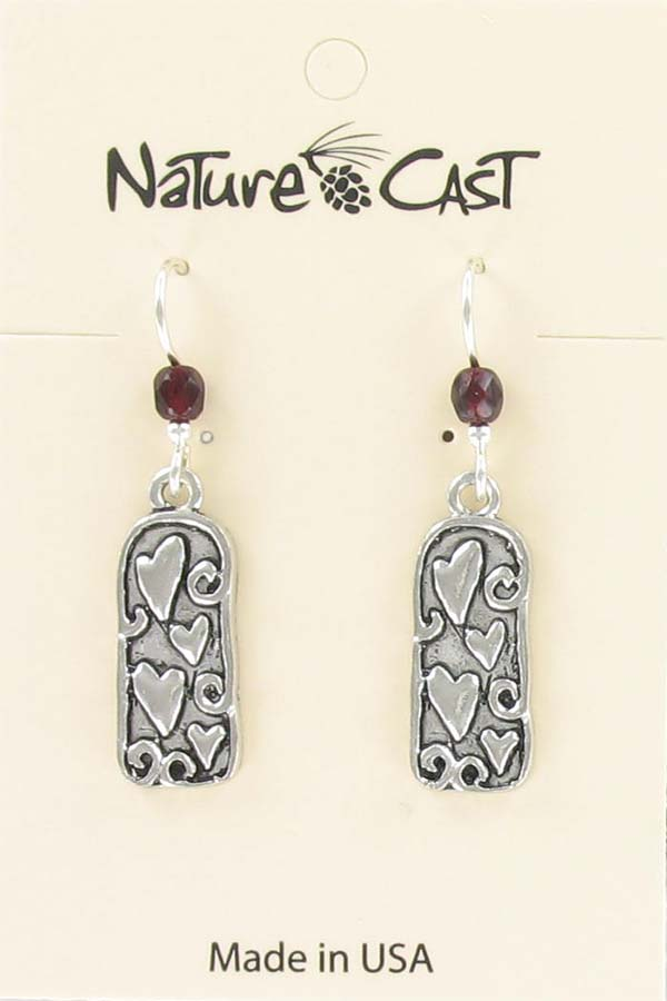 Earring dangle large heart THUMBNAIL