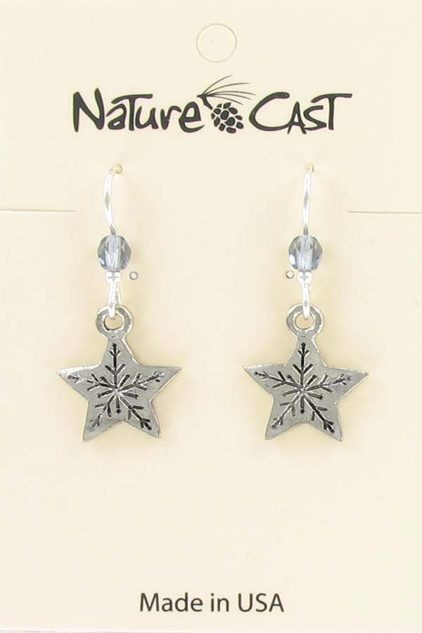 Earring dangle snowflake star THUMBNAIL