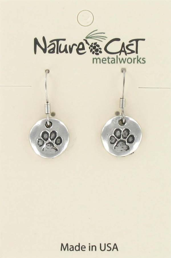 Earring dangle open bear paw