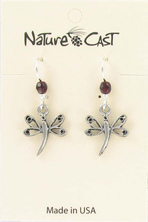 Earring dangle dragonfly THUMBNAIL