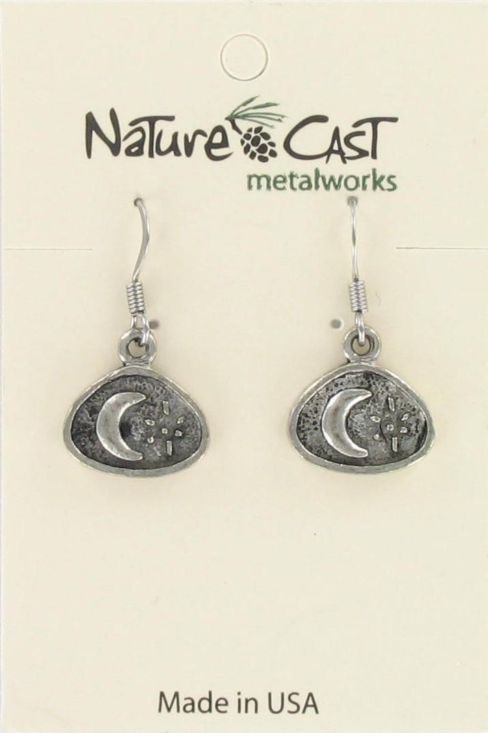 Earring dangle crescent moon THUMBNAIL