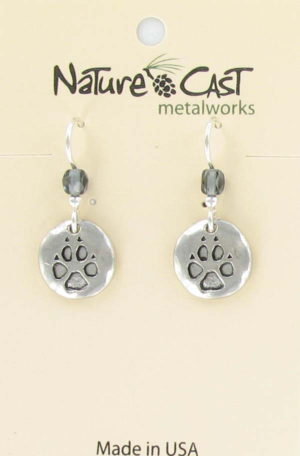 Earring wolf paw print THUMBNAIL