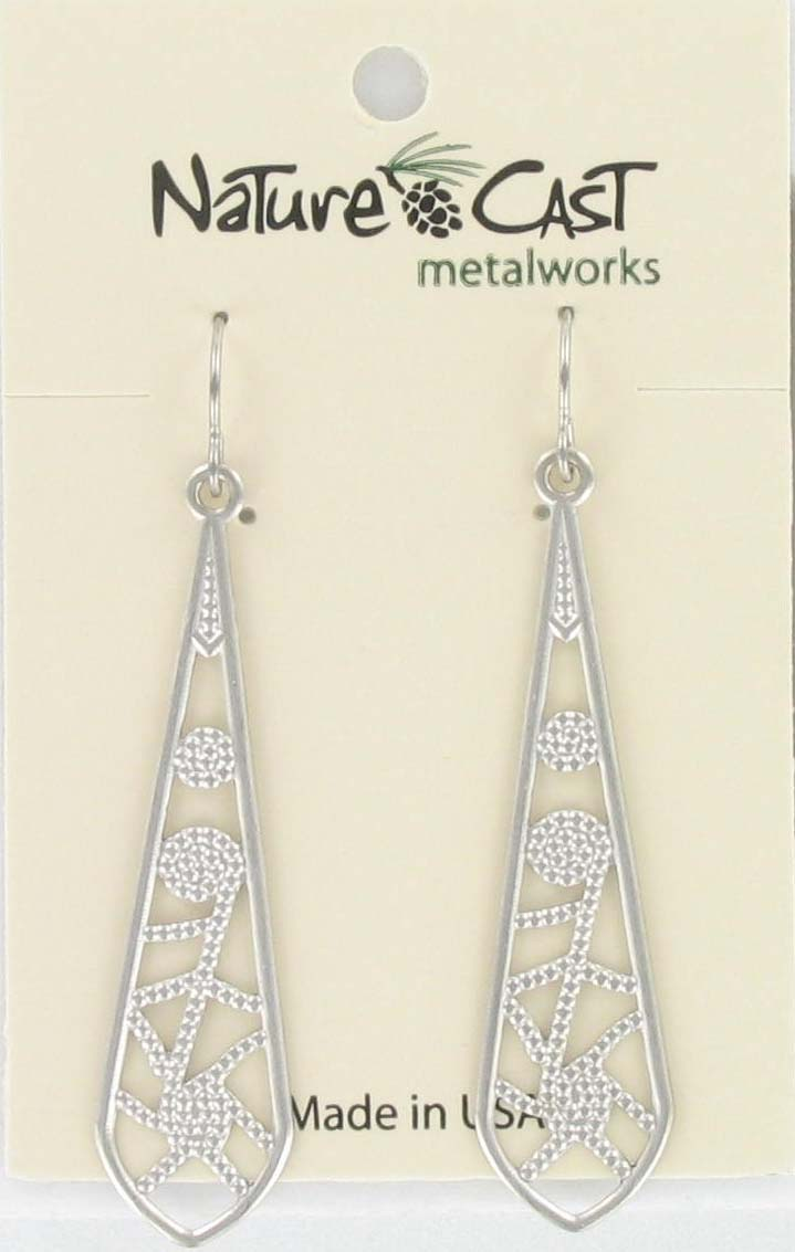 Earring dangle filigree long drop THUMBNAIL