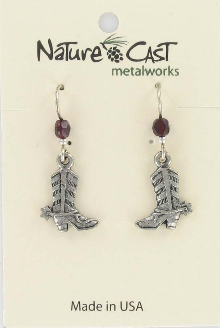 Earring dangle cowboy boot THUMBNAIL