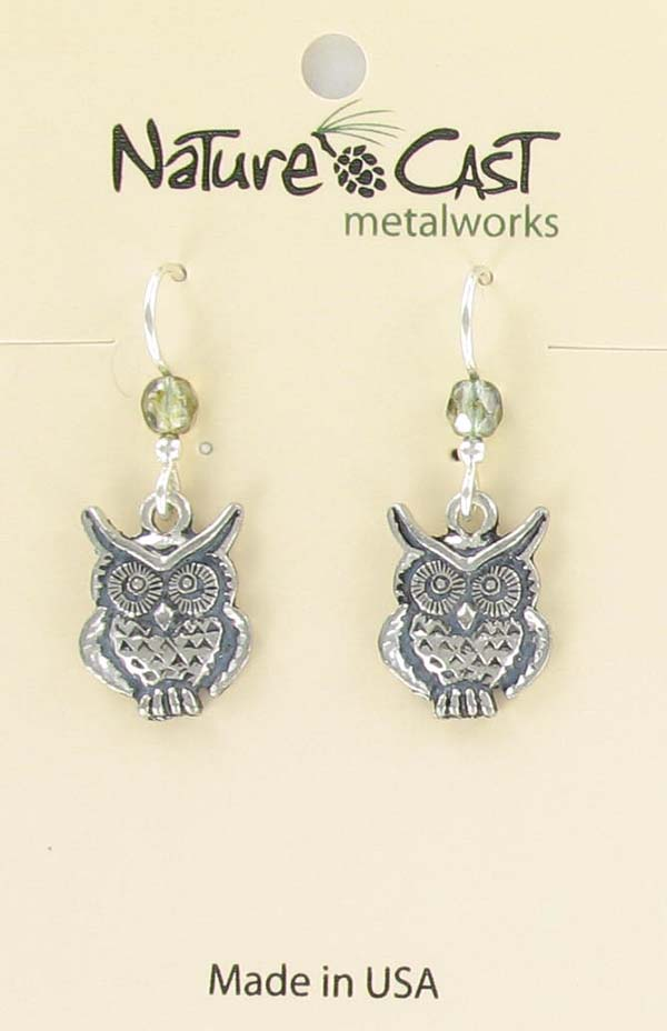 Earring dangle owl LARGE