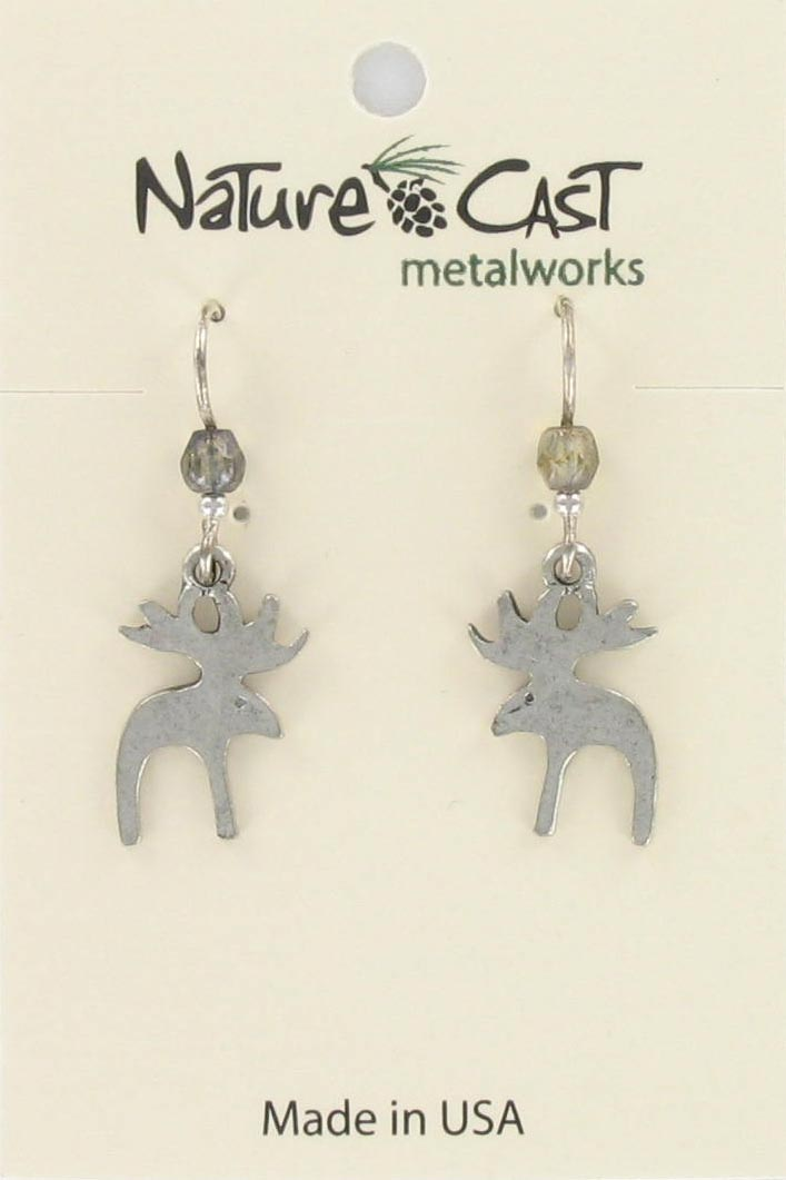 Earring dangle contemporary moose THUMBNAIL