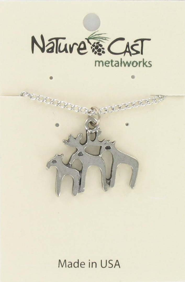 "Pendant contemporary moose trio w/18"" chain"