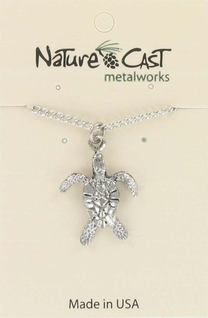 "Pendant sea turtle w/18"" chain"
