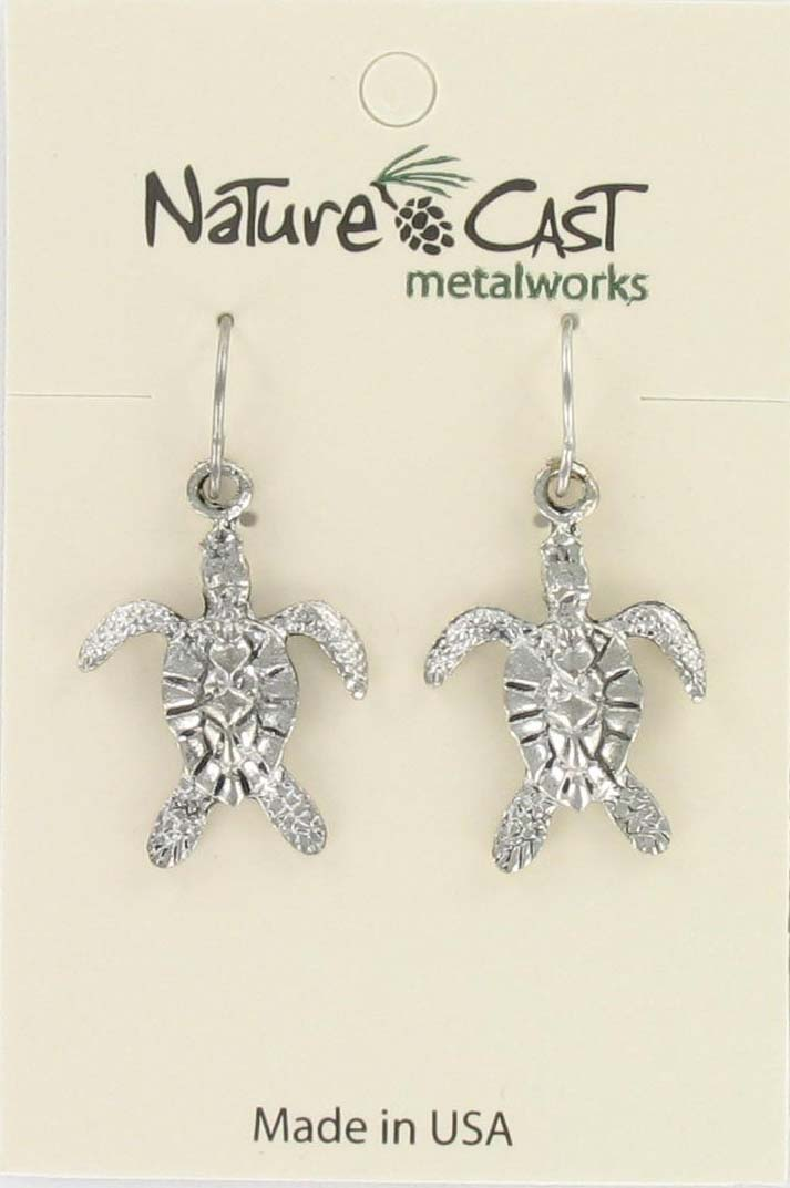 Earring dangle sea turtle