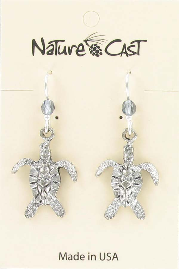 Earring dangle sea turtle THUMBNAIL