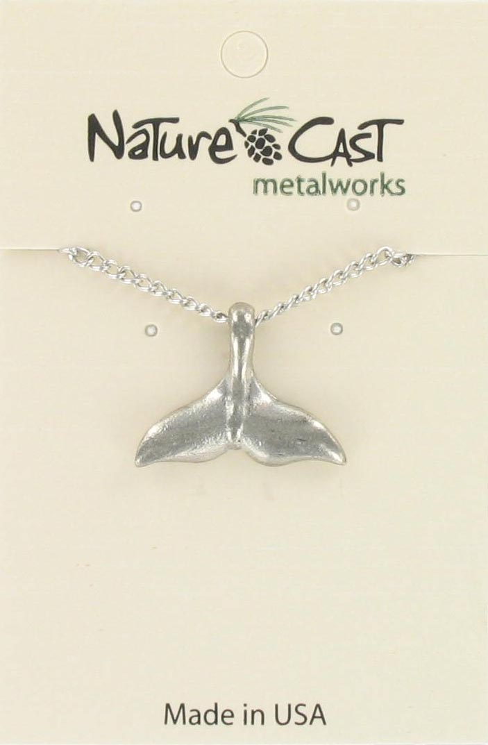"Pendant whale tail w/ 18"" chain MAIN"