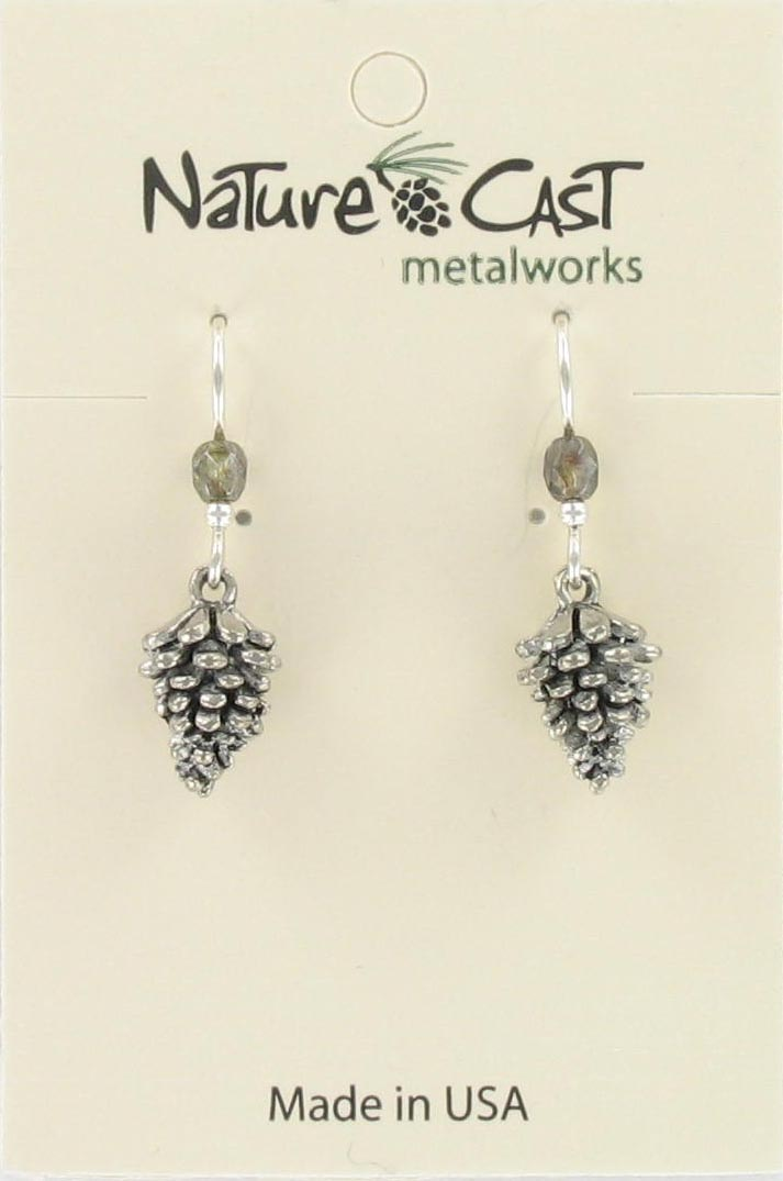 Earring dangle pinecone_THUMBNAIL