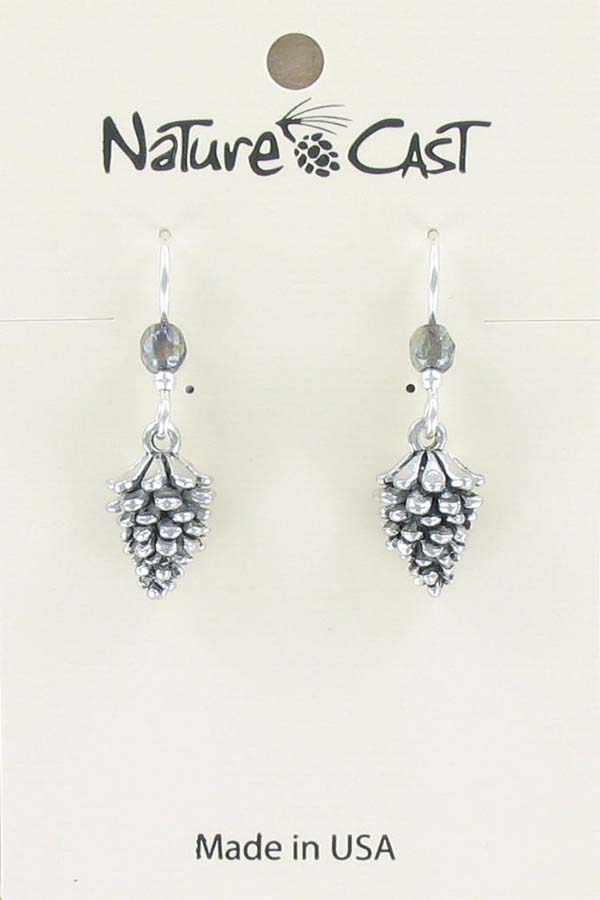 Earring dangle pinecone THUMBNAIL