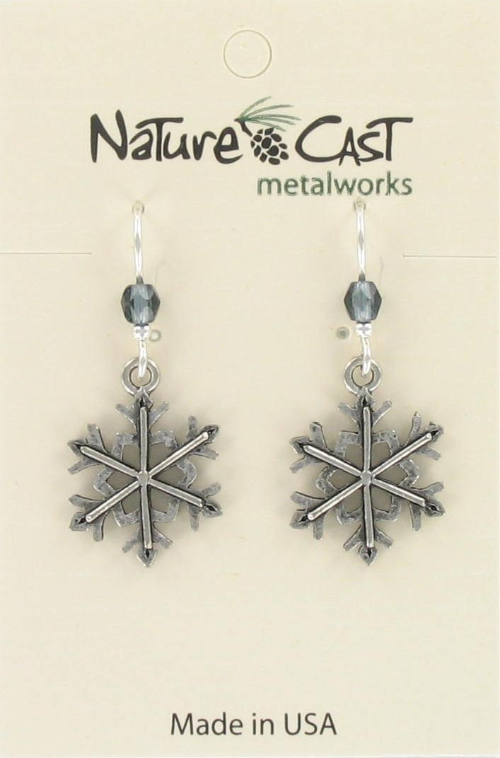 Earring dangle snowflake