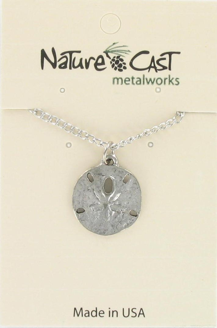 "Pendant sand dollar w/18"" chain MAIN"