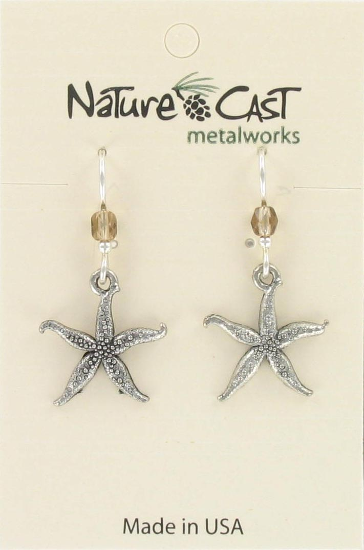 Earring dangle thin starfish THUMBNAIL