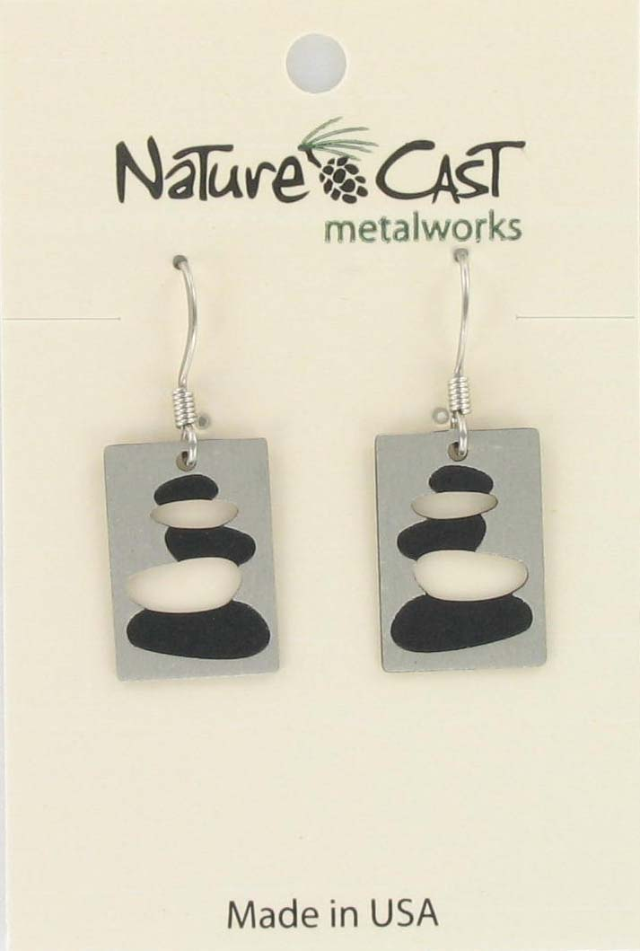 Earring dangle cairn disc