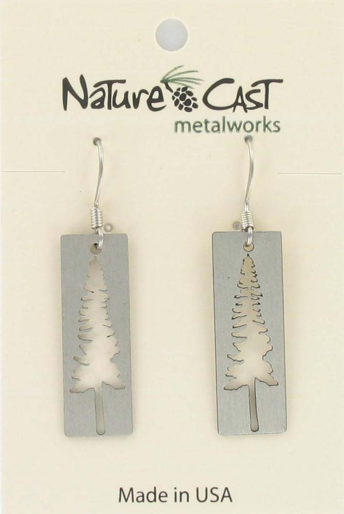 Earring dangle cutout tree on disc THUMBNAIL