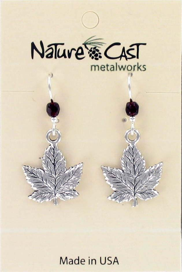 Earring dangle maple leaf THUMBNAIL