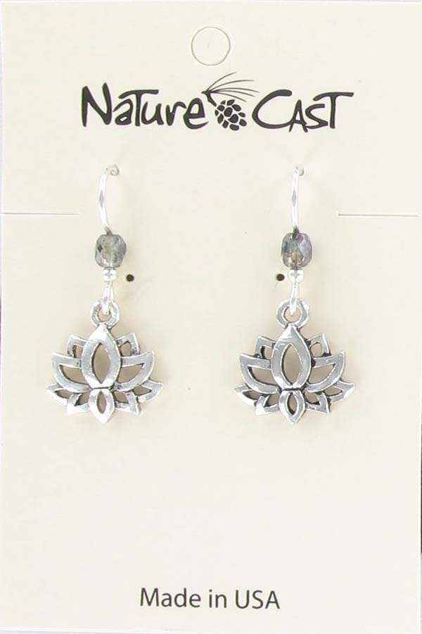 Earring dangle lotus THUMBNAIL