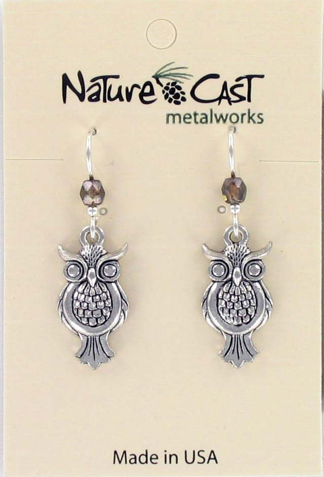 Earring dangle owl THUMBNAIL