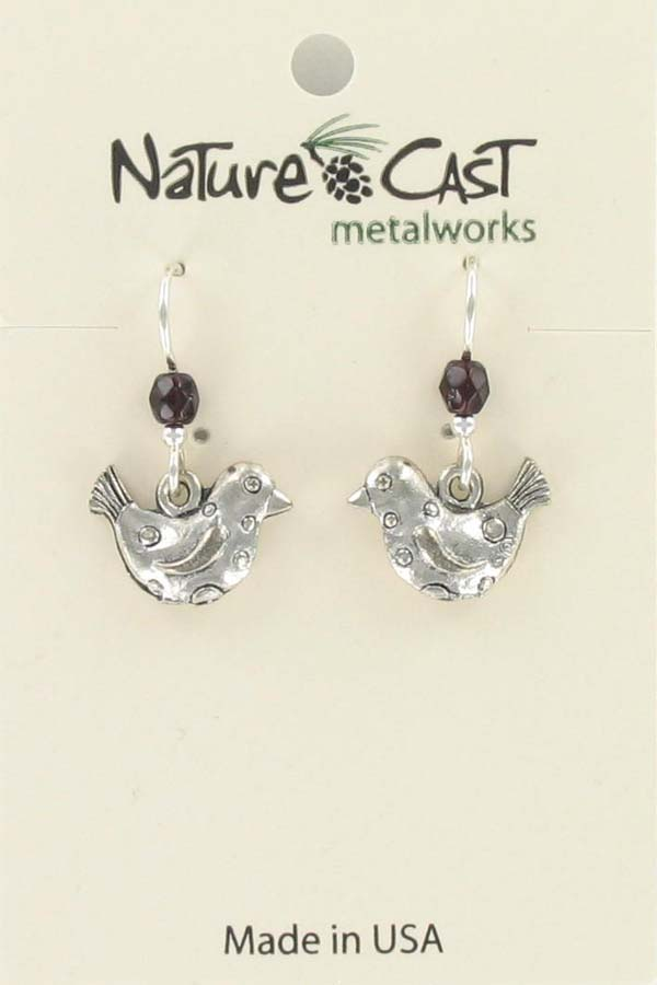 Earring dangle whimsy bird