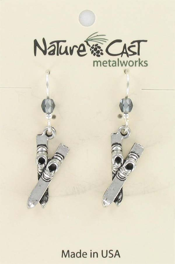 Earring dangle ski with boot_THUMBNAIL