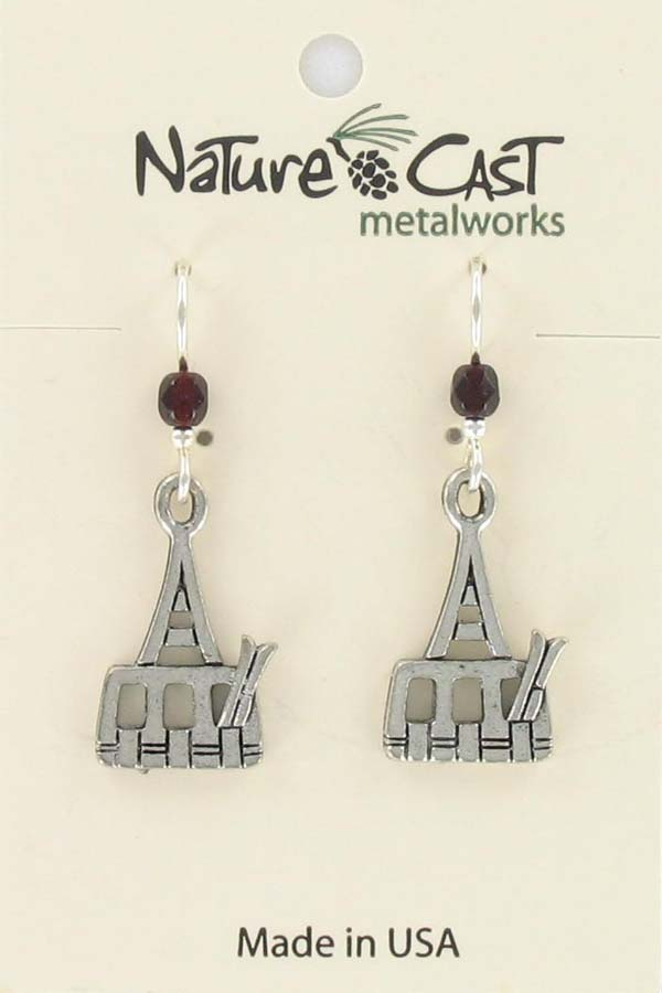 Earring dangle ski tram
