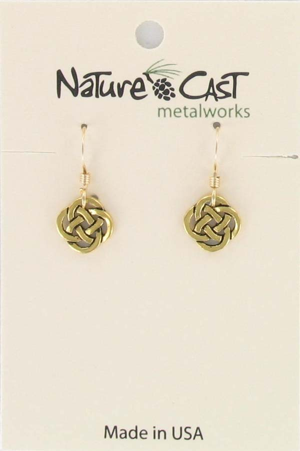 Earring dangle small celtic knot THUMBNAIL