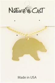 "Pendant gold black bear w / 18"" chain THUMBNAIL"