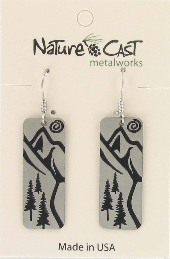 Earring dangle trail disc