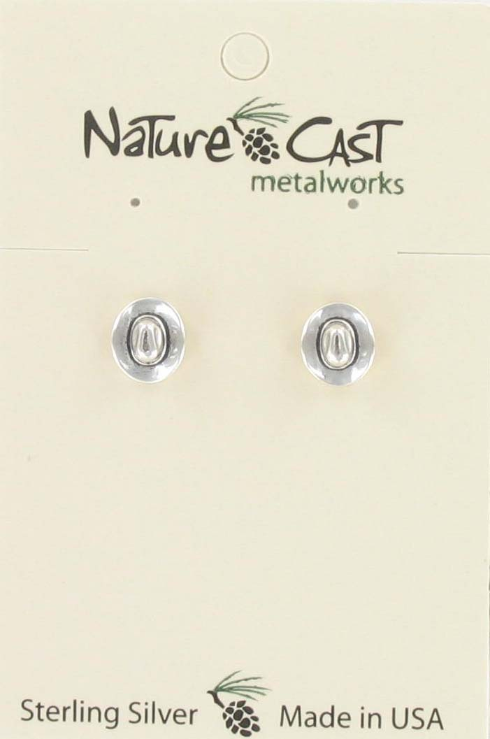 Earring post cowboy hat sterling silver_THUMBNAIL