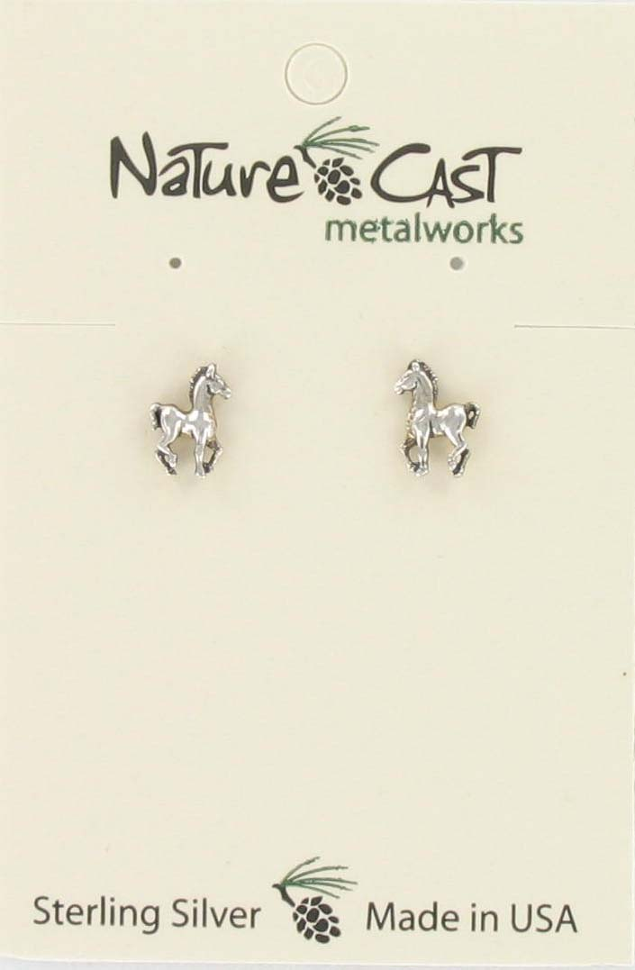 Earring post colt sterling silver