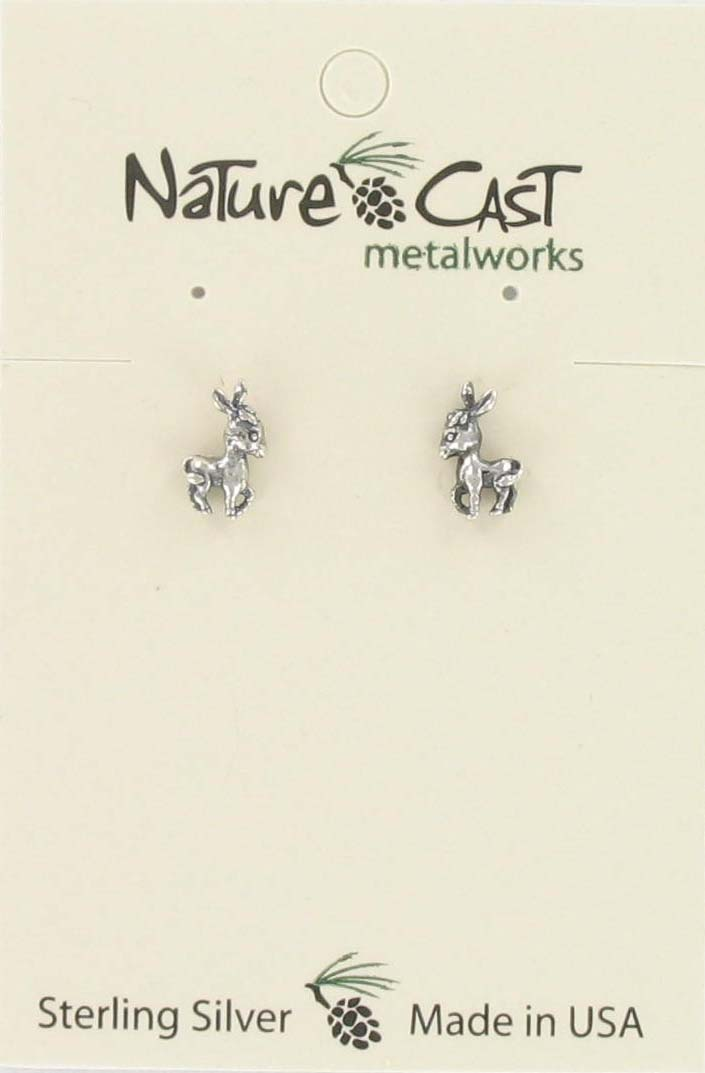 Earring post donkey sterling silver THUMBNAIL