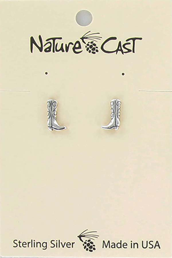 Earring post sterling silver boot LARGE