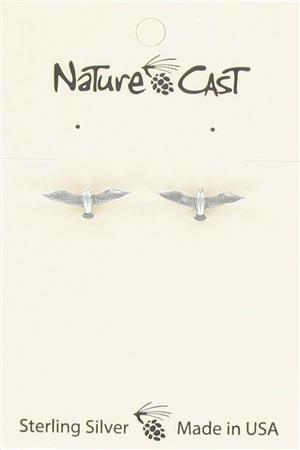 Earring post sterling silver seagull MAIN