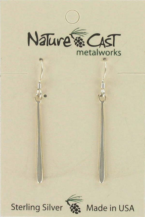 Earring dangle drop sterling silver LARGE