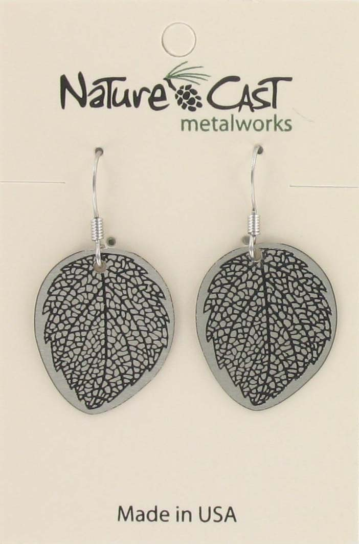 Earring dangle leaf disc THUMBNAIL