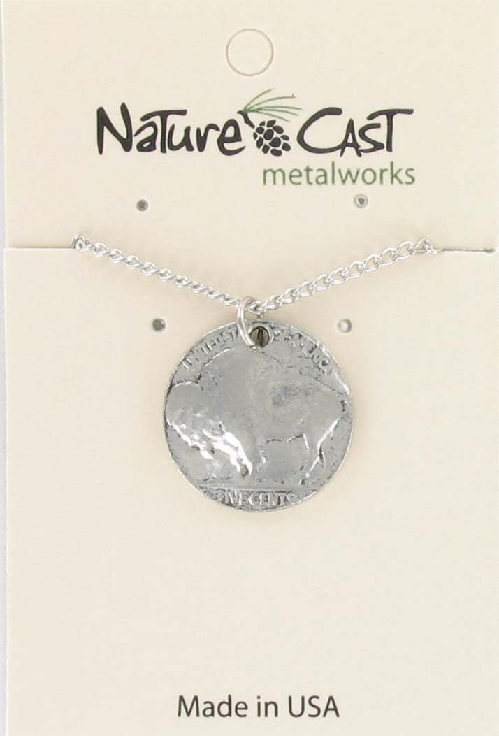 "Pendant buffalo coin w / 18"" chain_THUMBNAIL"