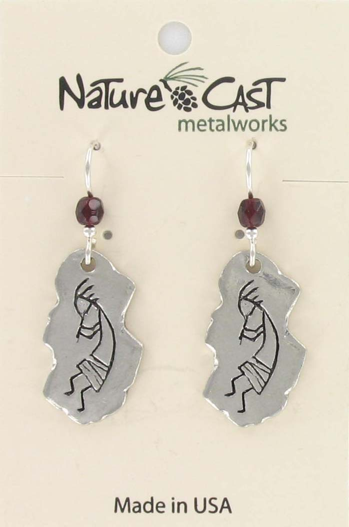Earring dangle kokopelli THUMBNAIL