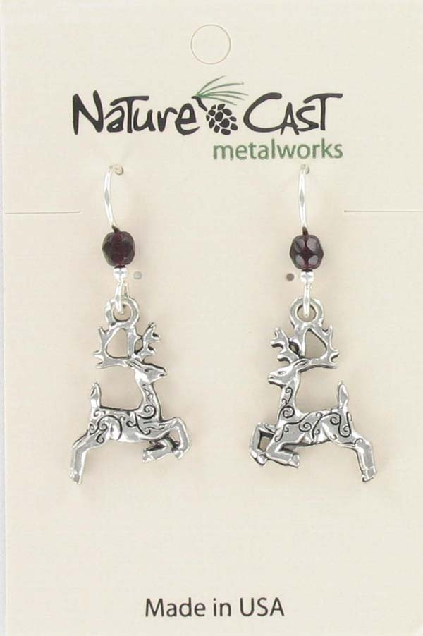 Earring dangle reindeer THUMBNAIL