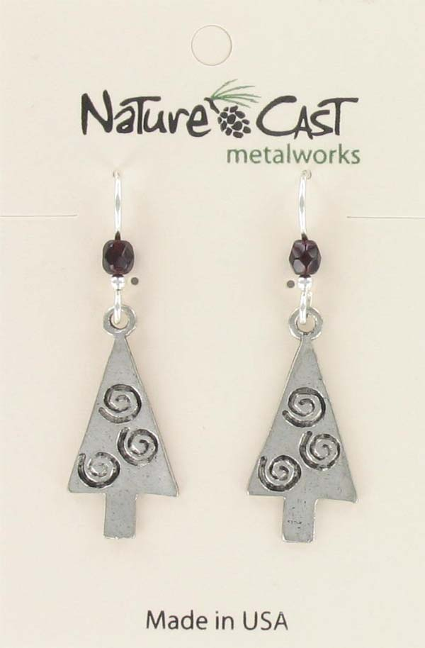 Earring dangle tree with swirl