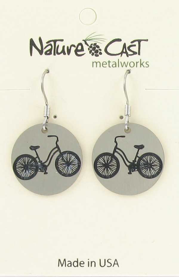 Earring dangle vintage bicycle